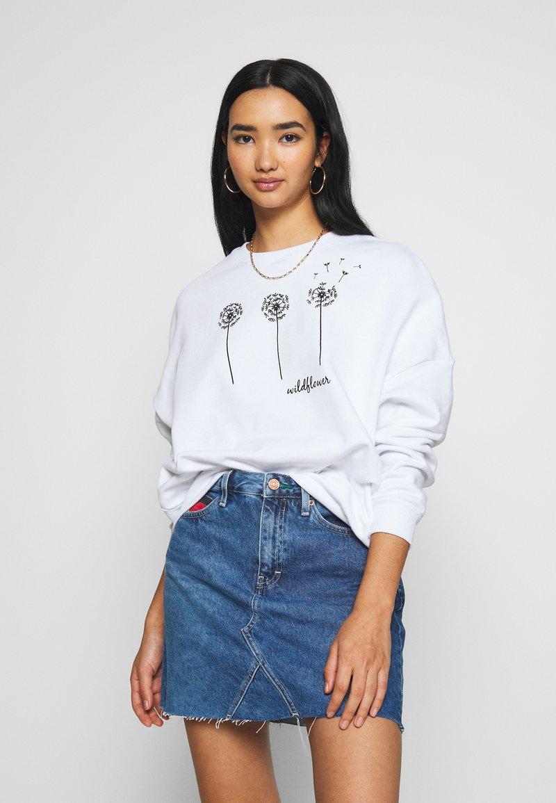 Even&Odd - Printed Crew Neck - Sweatshirt - white