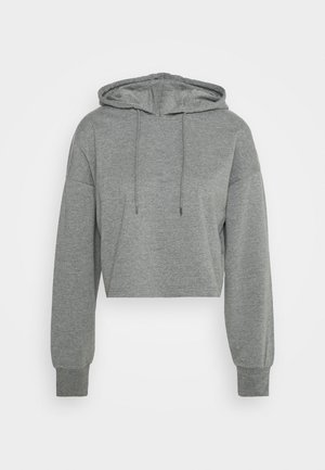 BASIC - Cropped Hoodie - Mikina s kapucí - mottled grey