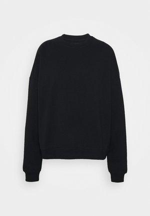 BASIC OVERSIZE CREW NECK - Sweater - black