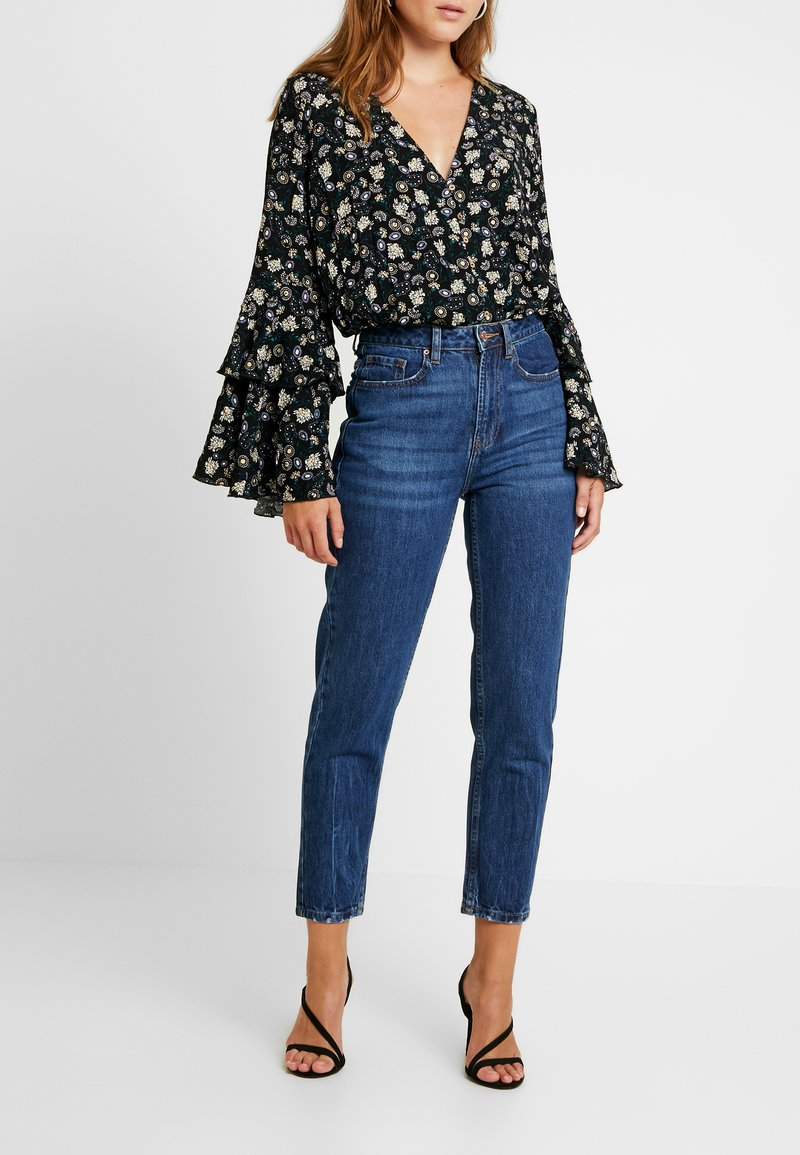Even&Odd - Relaxed fit jeans - dark blue denim