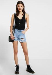Even&Odd - Denim shorts - blue denim - 1