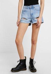 Even&Odd - Denim shorts - blue denim - 0
