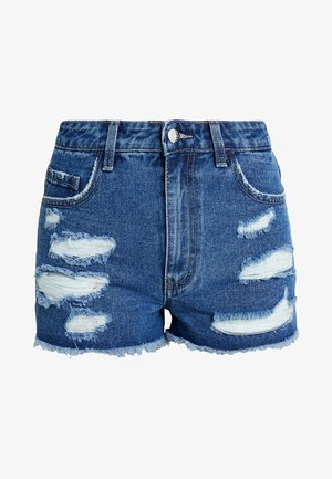 Jeansshorts - mid blue denim
