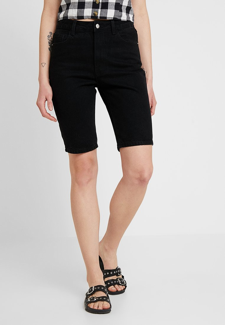 Even&Odd - Jeans Shorts - black denim