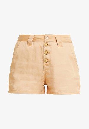 Denim shorts -  tan