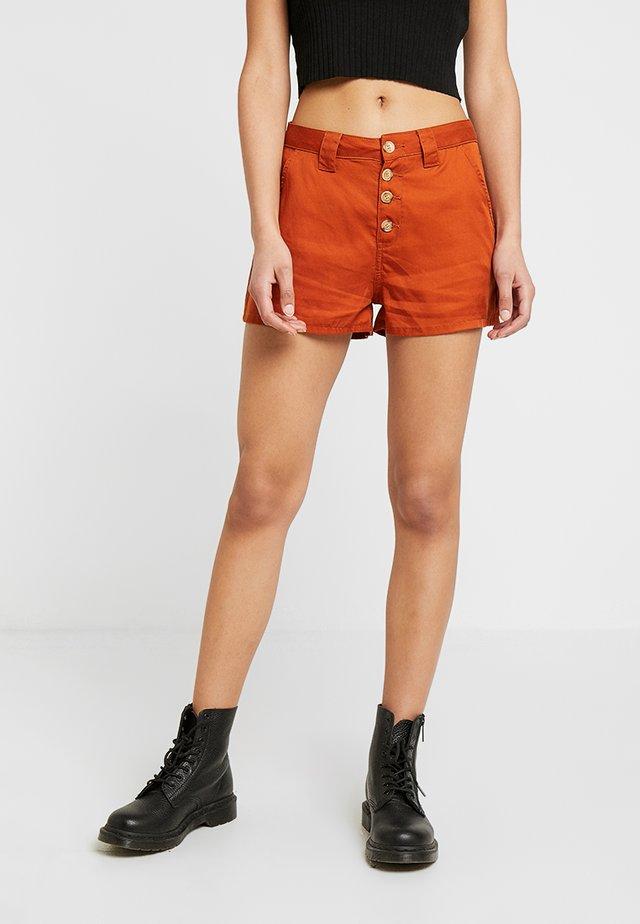 Denim shorts - light brown
