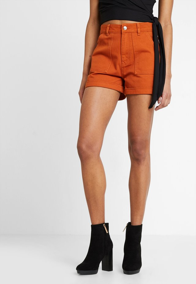 Jeans Shorts - peach as swatch