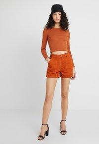 Even&Odd - Denim shorts - light brown - 1