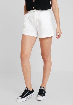 Jeansshorts - white denim