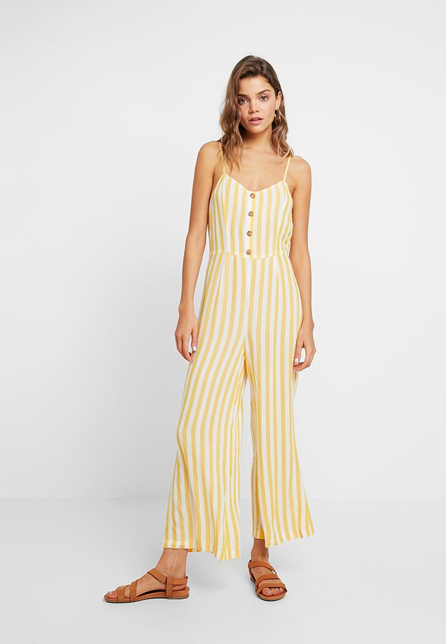 Jumpsuit - white yellow