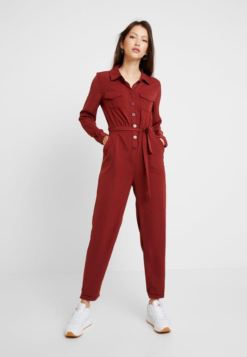 Even&Odd - Overall / Jumpsuit /Buksedragter - dark red