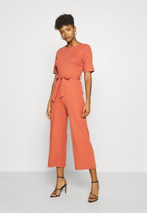 BASIC - Jumpsuit with belt - Mono - bruschetta