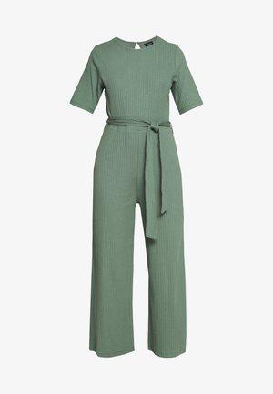 BASIC - Jumpsuit with belt - Mono - khaki