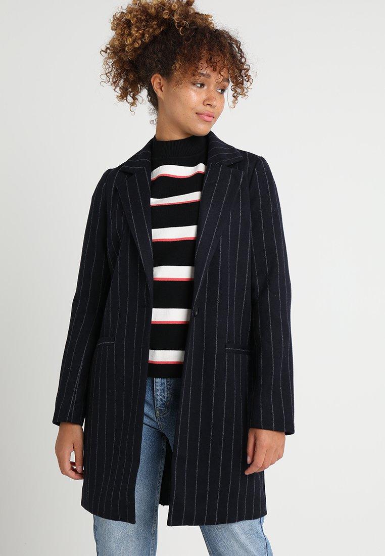 Even&Odd - Classic coat - dark blue/white