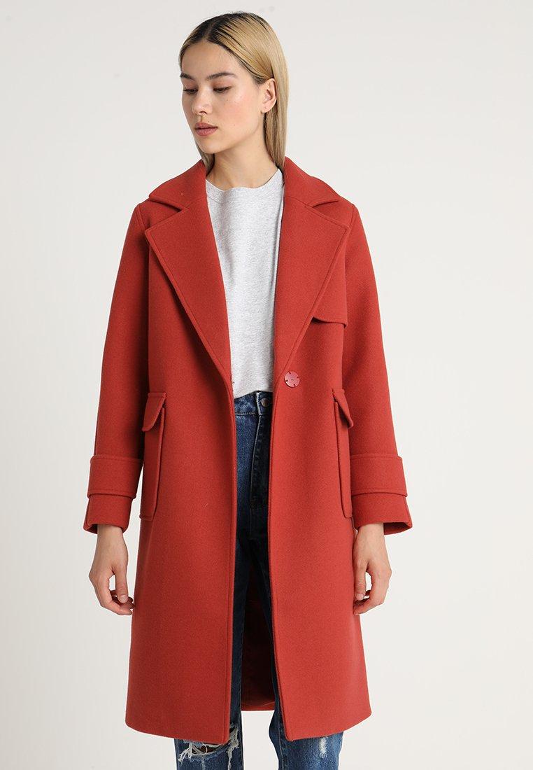 Even&Odd - Płaszcz wełniany /Płaszcz klasyczny - red