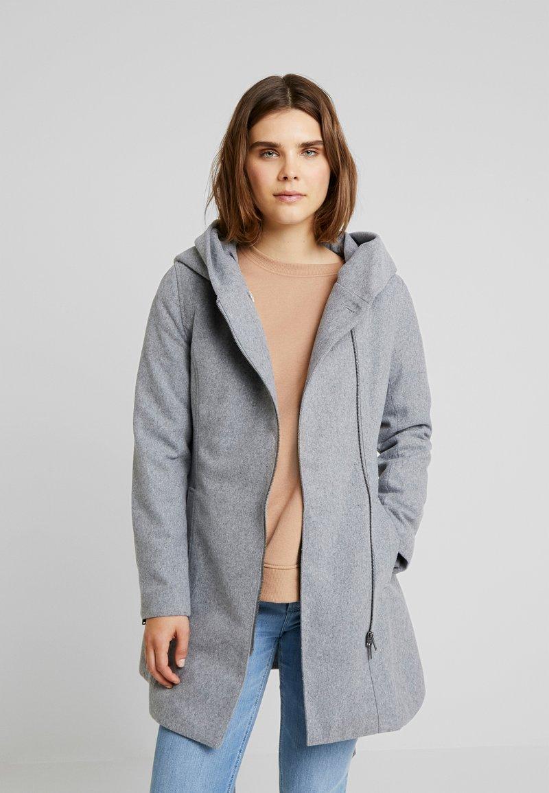 Even&Odd - Zimní kabát - light grey melange