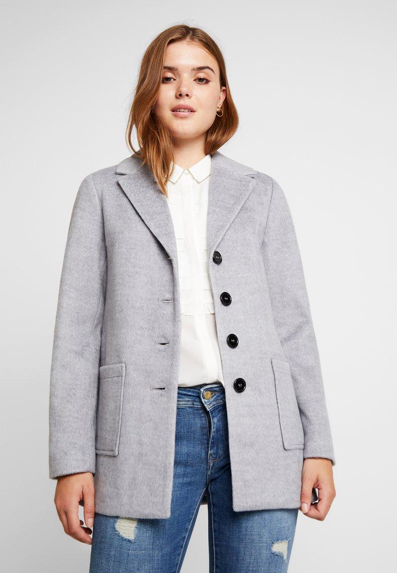 Even&Odd - Zimní kabát - mid grey melange