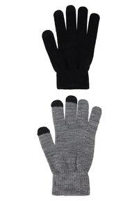 Even&Odd - 2 PACK - Sormikkaat - black/grey - 1