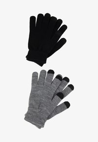 Even&Odd - 2 PACK - Sormikkaat - black/grey - 0