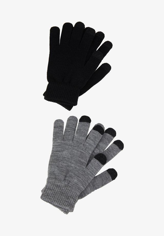 2 PACK - Fingervantar - black/grey