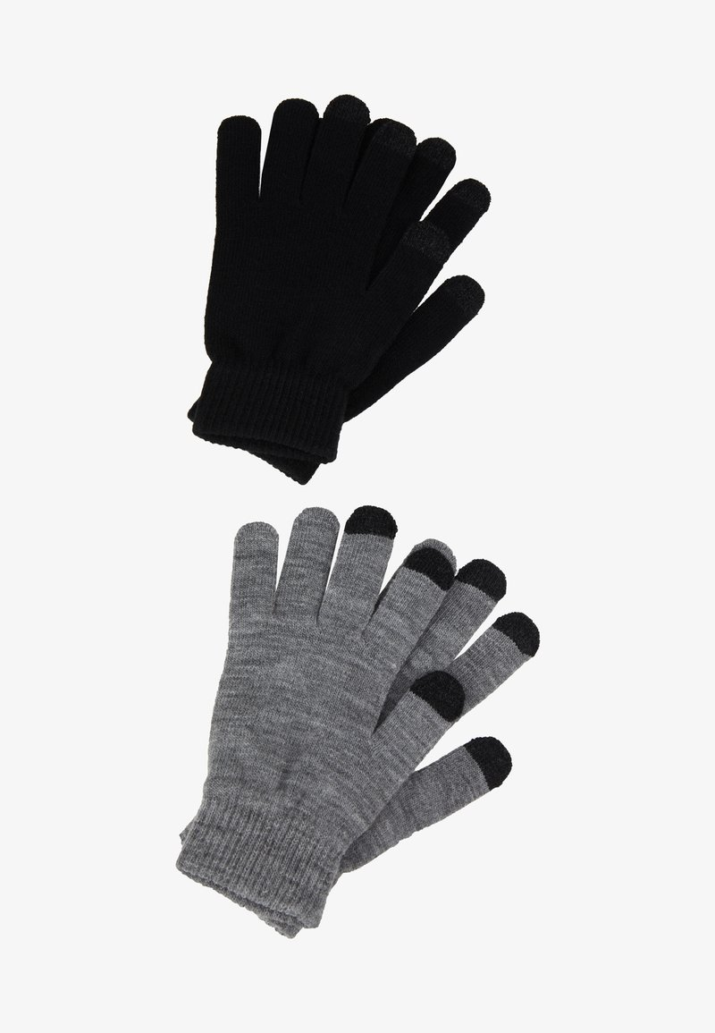 Even&Odd - 2 PACK - Gloves - black/grey