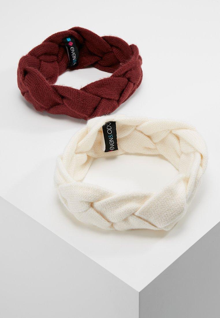 Even&Odd - 2PACK - Ear warmers - off-white/bordeaux