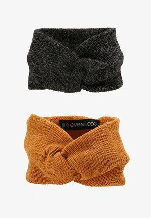 2 PACK - Ear warmers - mustard/black