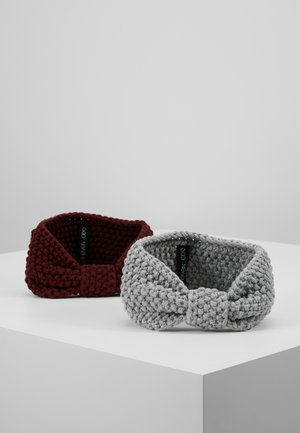 2 PACK - Ørevarmere - grey/bordeaux