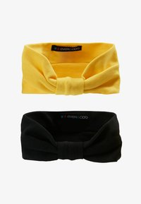 Even&Odd - 2 PACK HEADBAND - Hair Styling Accessory - mustard/black - 4