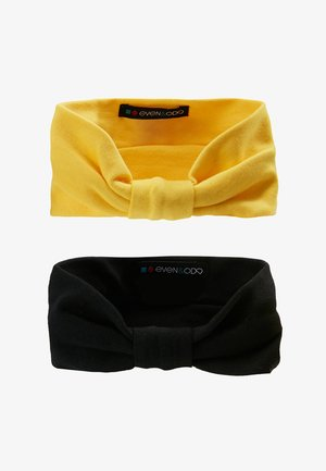 2 PACK HEADBAND - Hair Styling Accessory - mustard/black