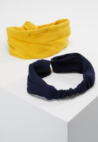 Even&Odd - 2 PACK HEADBAND - Hair styling accessory - dark blue/mustard - 1