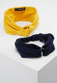 Even&Odd - 2 PACK HEADBAND - Hair styling accessory - dark blue/mustard - 0
