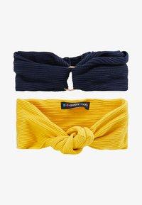Even&Odd - 2 PACK HEADBAND - Hair styling accessory - dark blue/mustard - 4