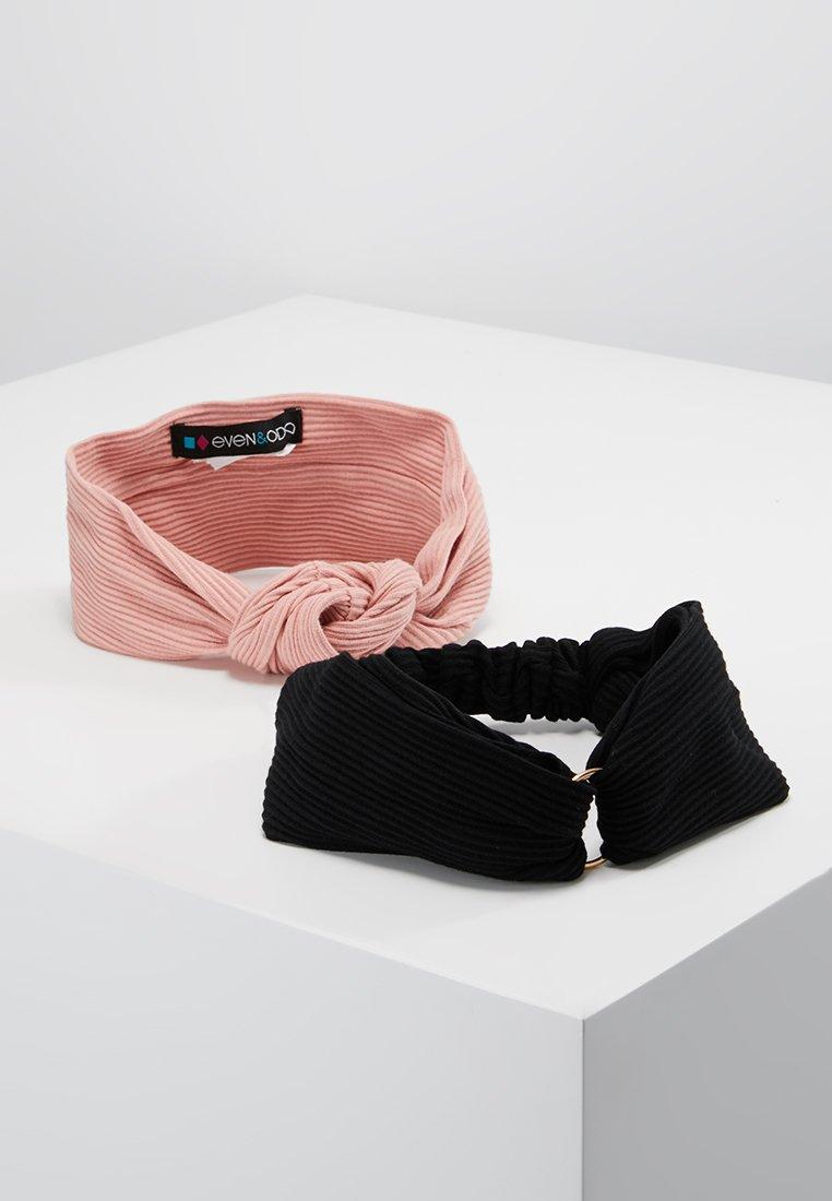 Even&Odd - 2 PACK HEADBAND - Haar-Styling-Accessoires - black/pink