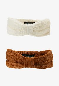 Even&Odd - 2 PACK - Hair Styling Accessory - off-white/mustard - 4