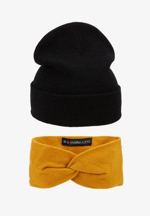 SET 2 PACK - Ear warmers - mustard/black