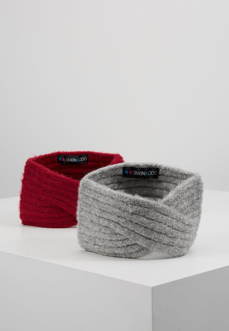 Even&Odd - 2 PACK - Čelenka - grey/pink