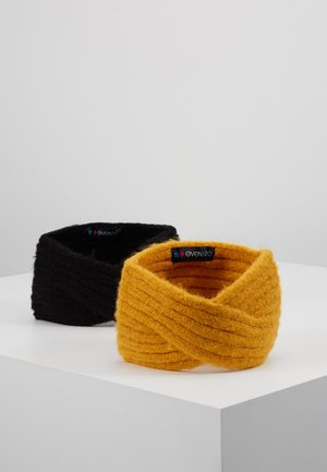 2 PACK - Nauszniki - mustard/black