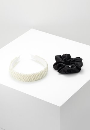 SET 2 PACK - Hair styling accessory - white/black