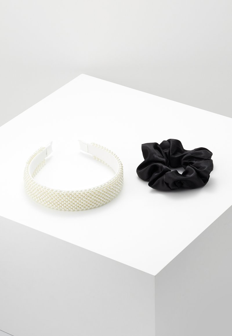 Even&Odd - SET 2 PACK - Hair styling accessory - white/black