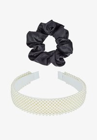Even&Odd - SET 2 PACK - Hair styling accessory - white/black - 3