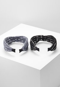 Even&Odd - 2 PACK - Hair Styling Accessory - black/grey - 2