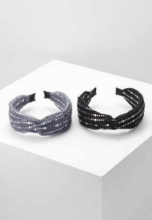 2 PACK - Haaraccessoire - black/grey