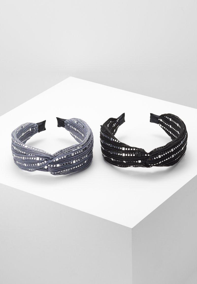 Even&Odd - 2 PACK - Håraccessoar - black/grey