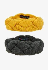 Even&Odd - 2 PACK - Čelenka - dark gray/yellow - 3