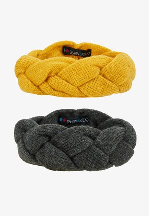 2 PACK - Ear warmers - dark gray/yellow