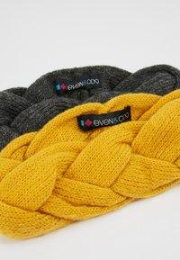 Even&Odd - 2 PACK - Čelenka - dark gray/yellow - 4