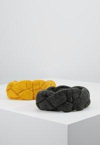 Even&Odd - 2 PACK - Čelenka - dark gray/yellow - 2