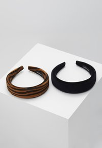 Even&Odd - 2 PACK - Hair Styling Accessory - brown/black - 0