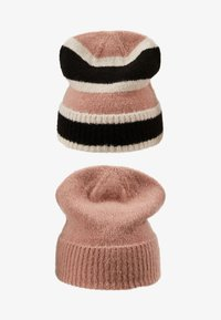 Even&Odd - 2 PACK - Čepice - black/rose